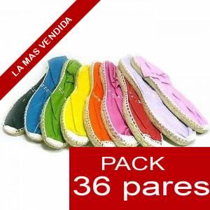 Mujer Colores Lisos - Alpargatas Boda MUJER Surtidas en colores y tallas - Caja 36 pares
