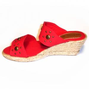 Rojo - VALREM Y104511-S Alpargata Remaches Rojo Talla 40