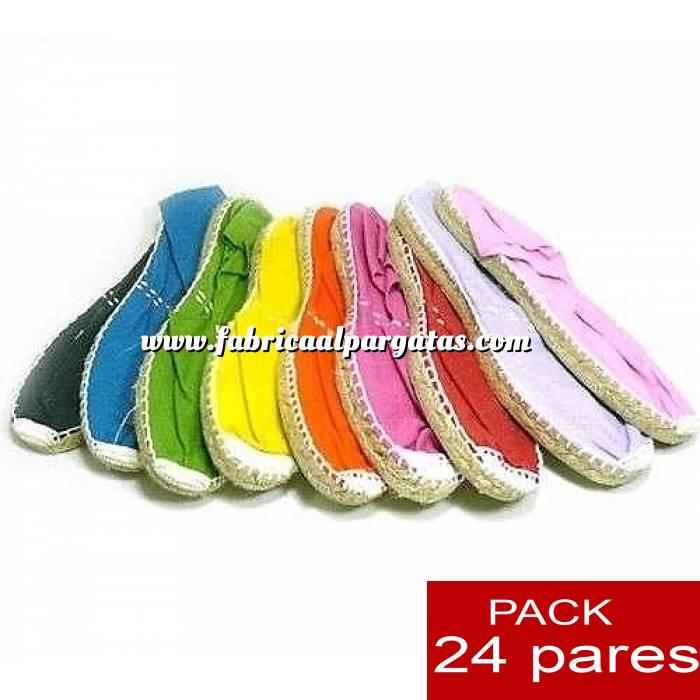 Imagen Mujer Cerradas Alpargatas cerradas Boda Surtidas en colores y tallas - caja de 24 pares