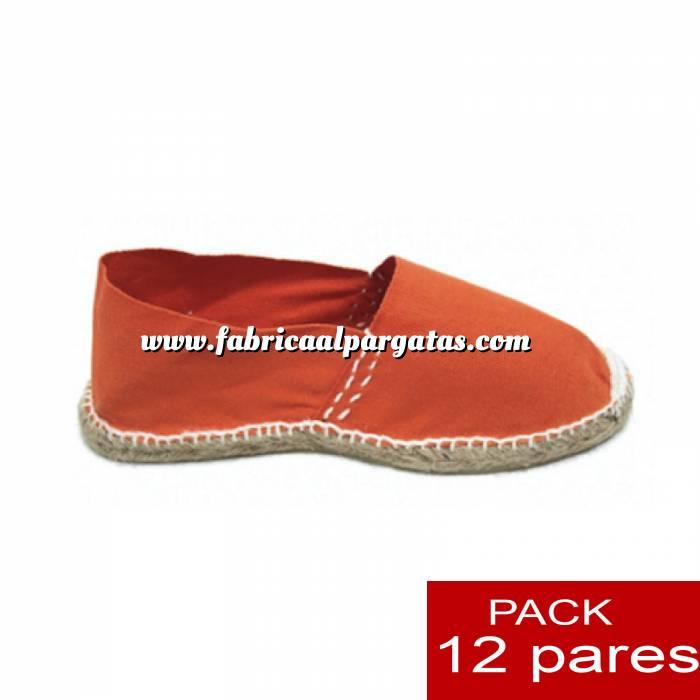 Imagen Para Niño Alpargatas Niño colorNARANJA LOTE de 12 uds (tallas 28-34)