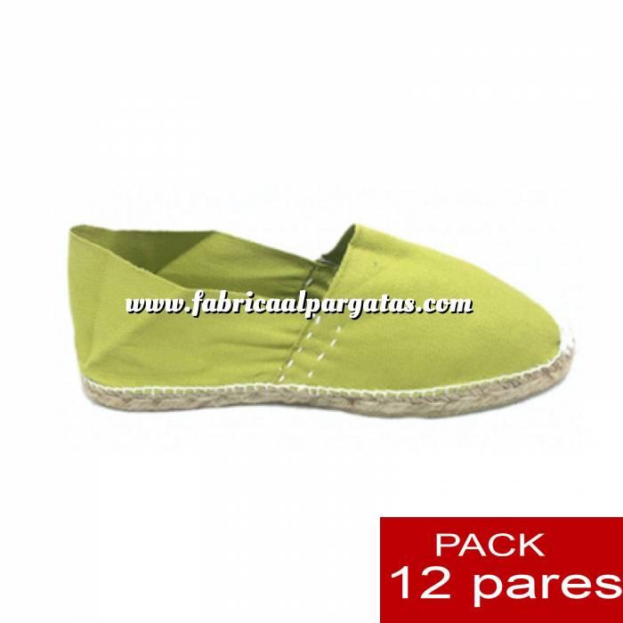 Imagen Para Niño Alpargatas Niño color VERDE PISTACHO LOTE de 12 uds (tallas 28-34)