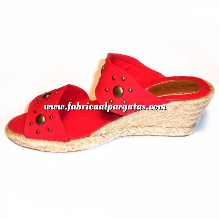 Imagen Rojo VALREM Y104511-S Alpargata Remaches Rojo Talla 38