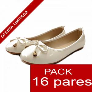 Alta Calidad - Manoletinas 808 WHITE - Caja 16 pares (Últimas Unidades)